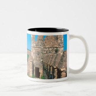 Castillo de Las Aguzaderas is a castle with a Two-Tone Coffee Mug