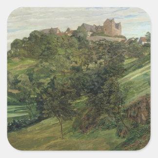 Castillo de Lichtenberg en Odenwald, 1900 Pegatina Cuadrada