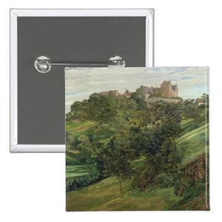 Castillo de Lichtenberg en Odenwald, 1900 Pin Cuadrado