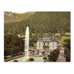 Castillo de Linderhof, vintage P de Baviera superi Tarjetas Postales