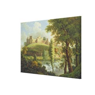 Castillo de Ludlow con el vertedero de Dinham, del Impresiones De Lienzo