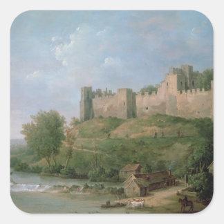 Castillo de Ludlow Pegatina Cuadrada
