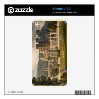 Castillo de Luscombe, Devon (litho del color) iPhone 4 Calcomanía