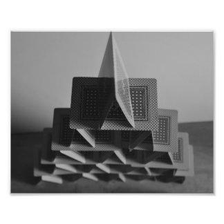 Castillo de naipes impresiones fotográficas