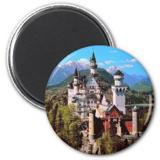 castillo de Neuschwanstein - Alemania Imán Redondo 5 Cm