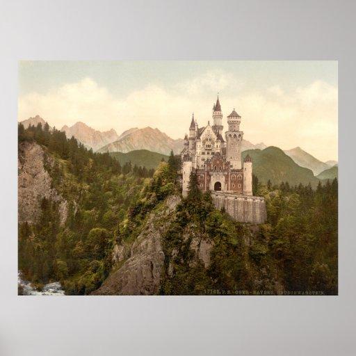 Castillo de Neuschwanstein, Baviera, Alemania Póster