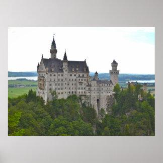 Castillo de Neuschwanstein del puente Póster