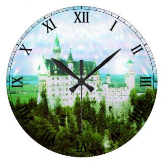 Castillo de Neuschwanstein - la foto de hadas del  Reloj Redondo Grande