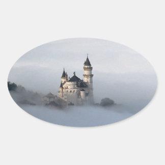 Castillo de Neuschwanstein Pegatina Ovalada