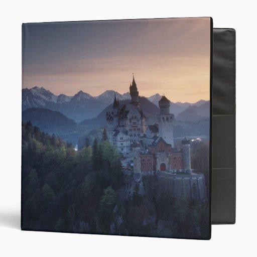 """Castillo de Neuschwanstein, último 1800's Carpeta 1 1/2"""""""