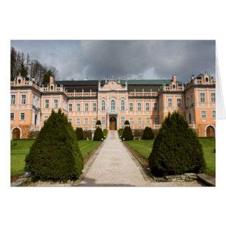 Castillo de Nove Hrady, Bohemia, checa Tarjeta De Felicitación