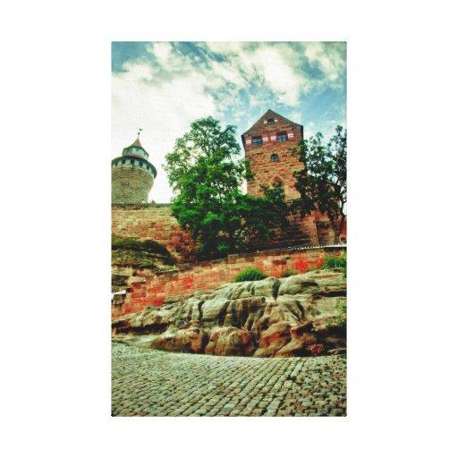 Castillo de Nuremberg Impresión En Lona