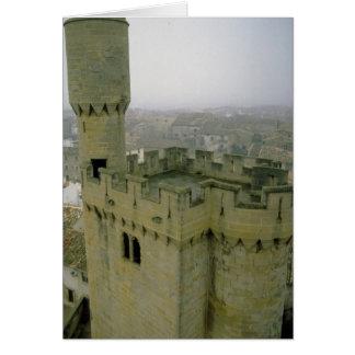 Castillo de Olite cerca de Pamplona, España Tarjeta De Felicitación