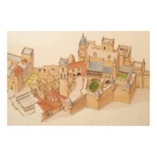 Castillo de Olite. Navarra España Cuadros De Madera
