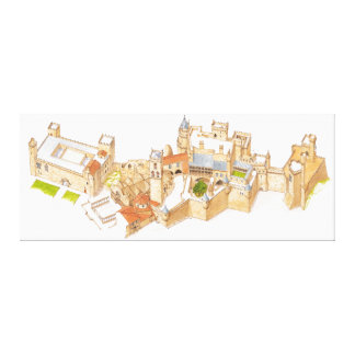 Castillo de Olite. Navarra España Lona Envuelta Para Galerias