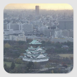 Castillo de Osaka Pegatina Cuadrada