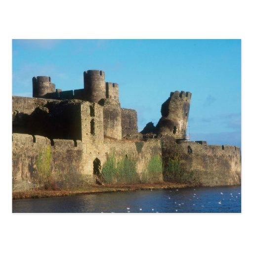 Castillo de País de Gales - de Caerphilly, con Postal