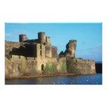 Castillo de País de Gales - de Caerphilly, con vis Fotografía