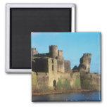 Castillo de País de Gales - de Caerphilly, con vis Imán Cuadrado