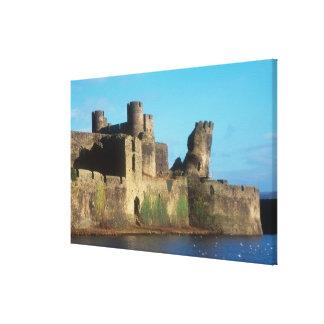 Castillo de País de Gales - de Caerphilly, con vis Impresiones En Lona