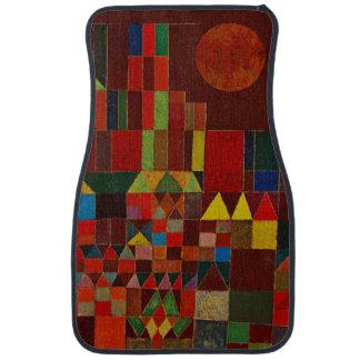 Castillo de Paul Klee y arte abstracto colorido de Alfombrilla De Auto