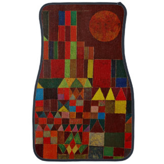 Castillo de Paul Klee y arte abstracto colorido de Alfombrilla De Coche
