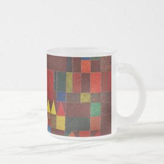 Castillo de Paul Klee y arte abstracto colorido de Taza Cristal Mate