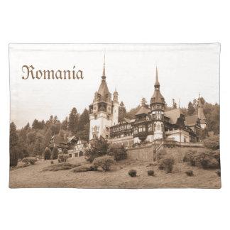 Castillo de Peles en Sinaia, Rumania Manteles Individuales