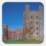 Castillo de Penrhyn, Gwynedd, País de Gales 2 Pegatina Cuadrada