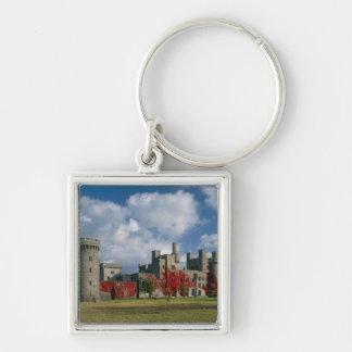 Castillo de Penrhyn, Gwynedd, País de Gales Llavero Cuadrado Plateado