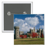 Castillo de Penrhyn, Gwynedd, País de Gales Pin Cuadrada 5 Cm