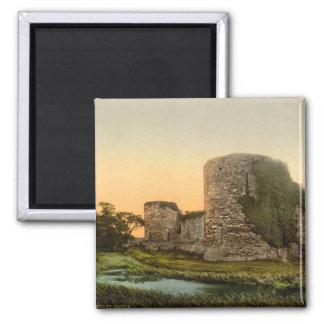 Castillo de Pevensey, Sussex del este, Inglaterra Imán Cuadrado
