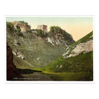 Castillo de Peveril, Castleton, rar de Derbyshire, Tarjetas Postales