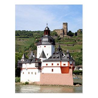 Castillo de Pfalzgrafenstein, el río Rhine, Tarjeta Postal