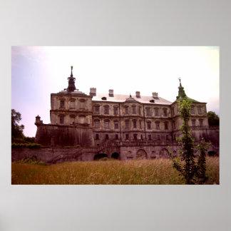 Castillo de Pidhirtsi Poster