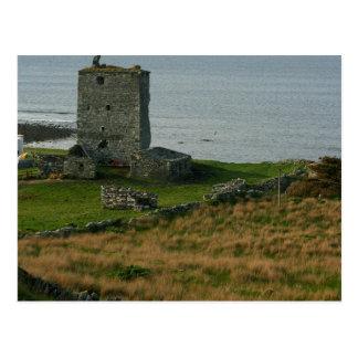 Castillo de Renvyle en el condado Galway Irlanda c Postales