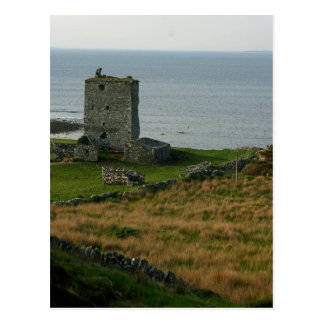 Castillo de Renvyle en el condado Galway Irlanda c Tarjetas Postales