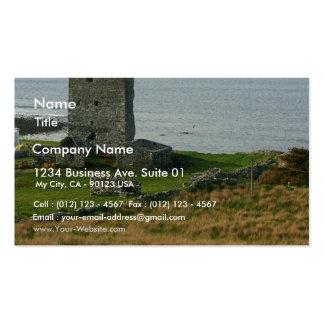 Castillo de Renvyle en el condado Galway Irlanda c Tarjetas De Visita