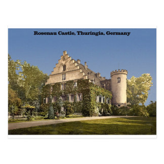 Castillo de Rosenau, Thuringia, Alemania Postal