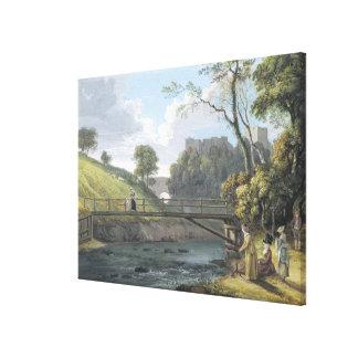 Castillo de Roslin, Midlothian (w/c y aguazo en pa Impresión En Lienzo Estirada