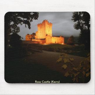 Castillo de Ross en la noche Tapetes De Raton