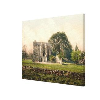 Castillo de Rowallan, Kilmarnock, Ayrshire, Escoci Lona Estirada Galerias