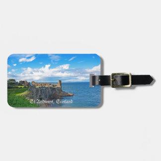 Castillo de Saint Andrews Escocia Etiquetas De Equipaje