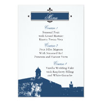 Castillo de San Cristobal wedding menu cards