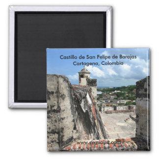 Castillo de San Felipe de Barajas Cartagena 1 2 Inch Square Magnet
