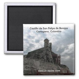 Castillo de San Felipe de Barajas Cartagena, Colom 2 Inch Square Magnet