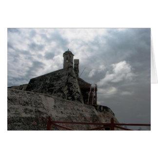 Castillo de San Felipe de Barajas Cartagena, Colom Tarjeta De Felicitación
