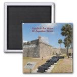 Castillo de San Marcos 2 Inch Square Magnet