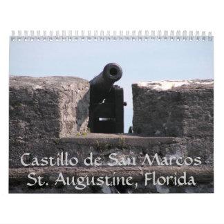 Castillo de San Marcos Calendarios De Pared