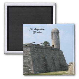 Castillo de San Marcos del fuerte de St Augustine  Imán Cuadrado